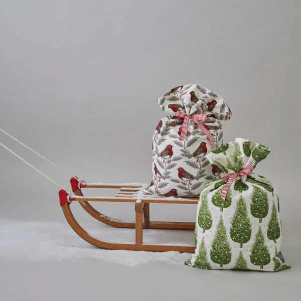 Thonrback and Peel, Christmassack, Siebdruck auf Baumwolle; (Foto + Copyright: Thornback&Peel)