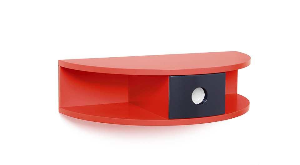 Henry Gockel, Roundboard, MDF, Lack rot/schwarz