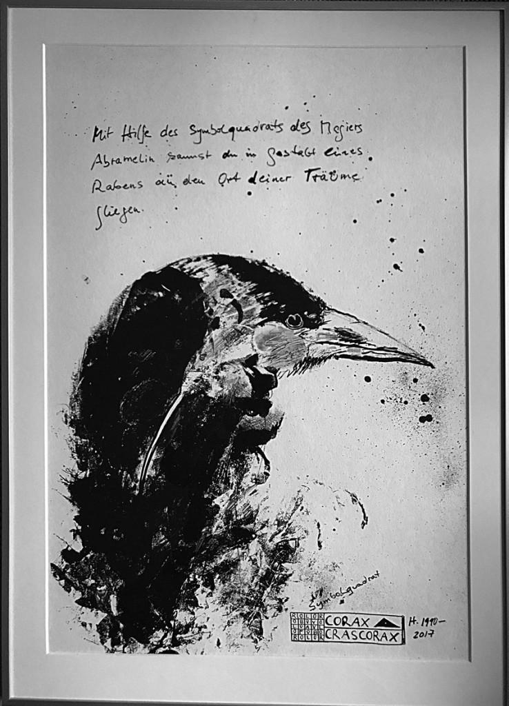 Irmgard Hofmann, Abramelin, Zeichnung Tusche; (Copyright: Hofmann)