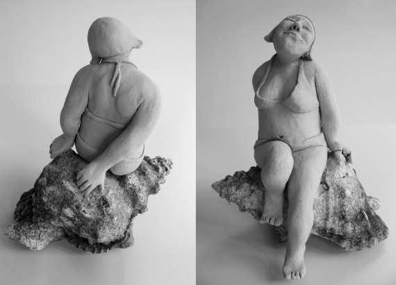 "Johanna Beil, Terrakottafigur ""Die Schaumgeborene"" (Copyright J. Beil)"