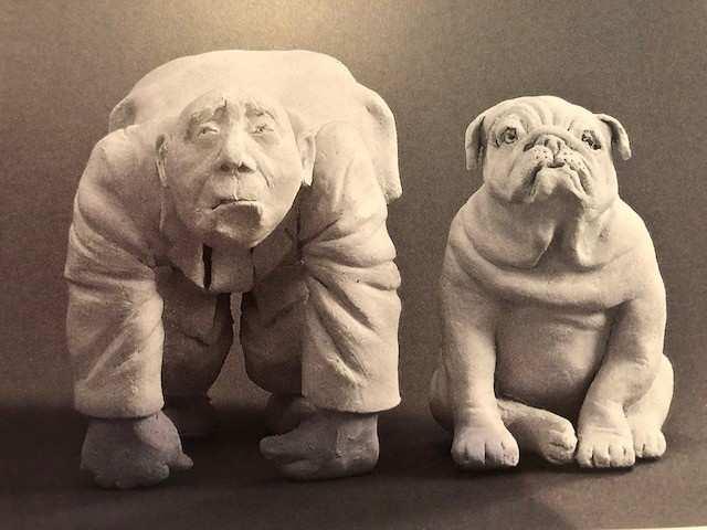 "Johanna Beil, Skulptur ""Wie der Herr, so's G'scherr...., Terrakotta; (Copyright: J. Beil, Foto: A. Fidelak)"